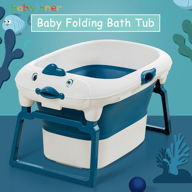 Bañera de bebé Babyinner plegable multifuncional portátil Baignoire 82*46*56cm barril de baño de bebé en el baño 0-15 años