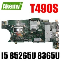 akemy for lenovo thinkpad t490s laptop motherboard nm b891 cpu i5 85265u 8365u 16gb ram fru 01hx936 01hx934