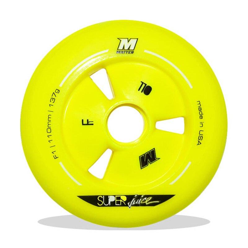 Rueda de patinaje de velocidad maratón F1 MATTER GI3 patines de velocidad en línea ruedas amarillas 90 100 110 neumáticos de ruedas g13 road racing 8 unids/lote