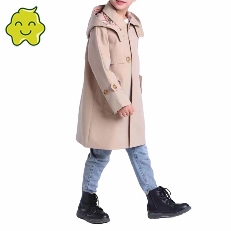 Top Brand Children'S Clothing Jackets For Girls Outerwear Boy Coat Vintage Windproof Jacket Windbreaker Hooded Kids Outwear 2021