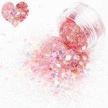 Poudre holographique 10ml/pot   Paillettes Nail Art, paillettes scintillantes, formes mélangées, flocons minces pour décoration de manucure