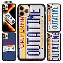 Juntsai Back to the Future License Plate TPU Case For iPhone XR X XS Max 5S SE 2020 6S 7 8 Plus 11 Pro Max Cover Coque