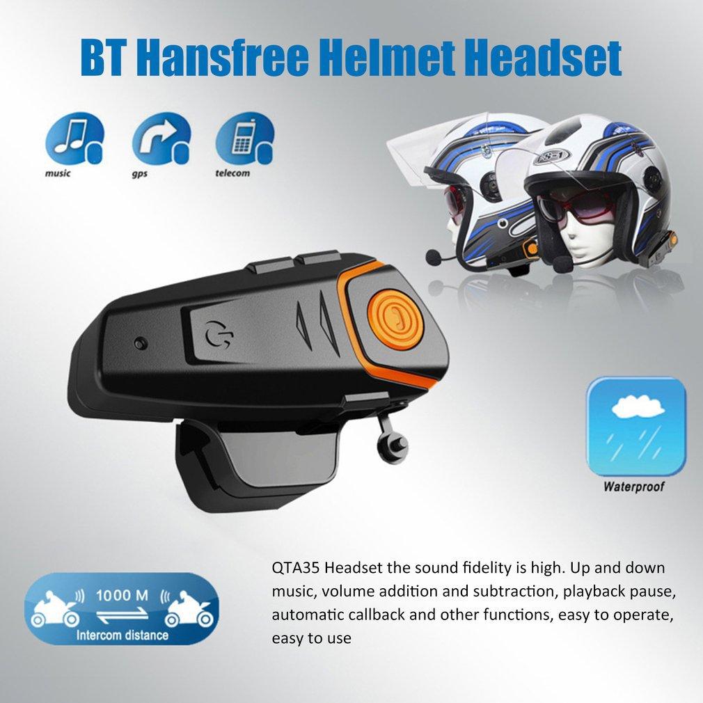 Bluetooth Motorcycle Helmet Headset Intercom Communication Headphone  Universal Wireless Interphone To 2 or 3 Riders enlarge