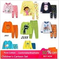 new pajamas set baby boy clothes girl sleepwear nightwear children pyjamas cotton 2pcsset cartoon clothing set kids sleepwear