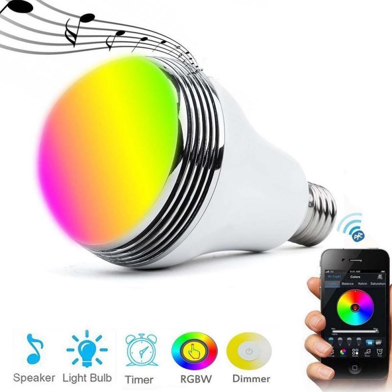 Фото - Умсветодиодный светодиодсветильник лампочка с Wi-Fi, E27, RGB, музыкальный динамик, светодиодсветодиодный лампочка, беспроводная лампочка с тай... лампочка