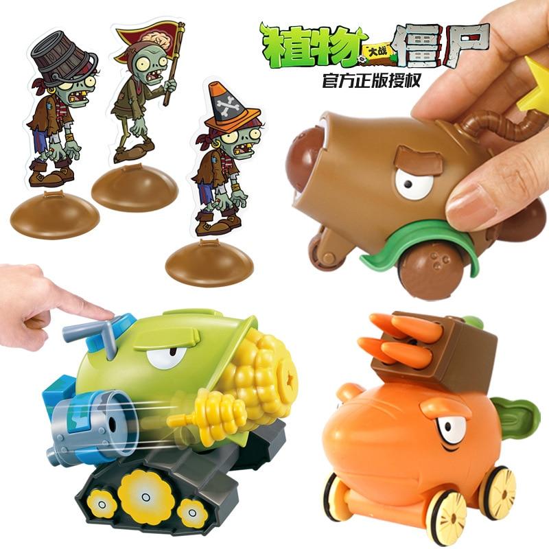 Rośliny kontra Zombie zabawki kukurydzy Cannon marchew Pullback samochodu statek piracki Mech piłka nożna zombie