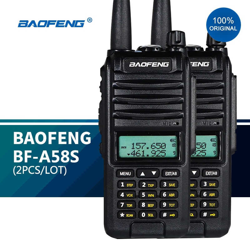 2PCS BF-A58S Dual Band Ham Portable Radio Baofeng A58S uhf vhf Walkie Talkies 5W Tri Band hf Transceiver New cb 2way Radios 2021