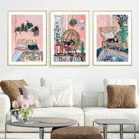 Peinture a lhuile de maison retro nostalgique europeenne  affiches dart murales  peinture de scene de maison  images pour decoration de chambre a coucher  decoration de maison
