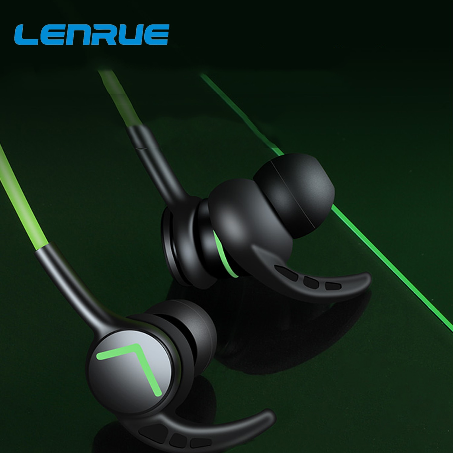 Lenrue A6 Games Earphones Headsets With Built-in Microphone 3.5mm Jack or Type-C In-Ear Wired Earpho