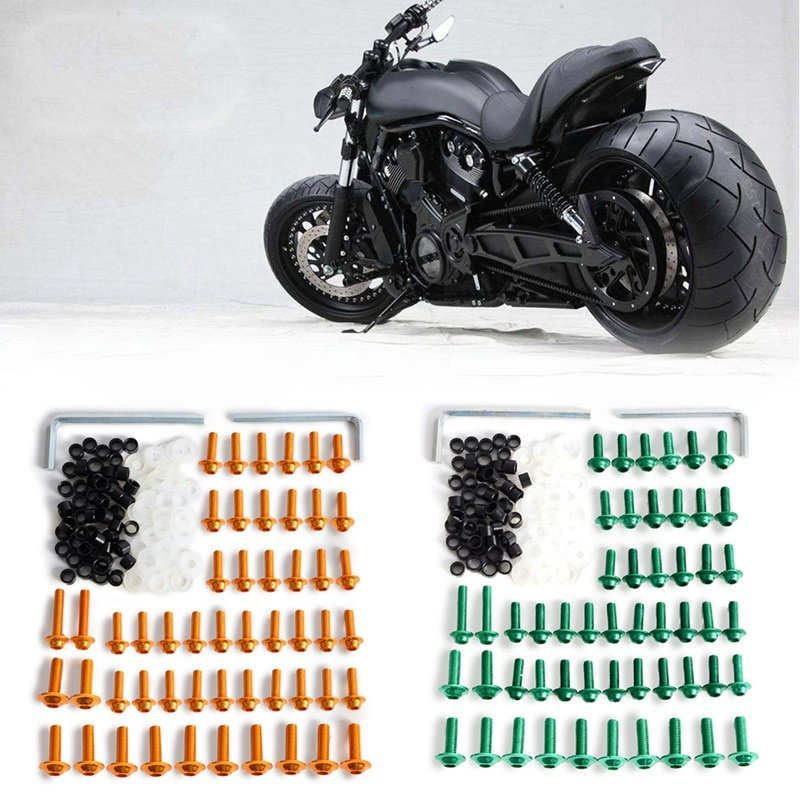 158Pcs/Set Motorcycle Fairing Bolts Fastener Clips Screws Kit for Motorcycle Motorbike Body Modification Bolt Kit Accessories