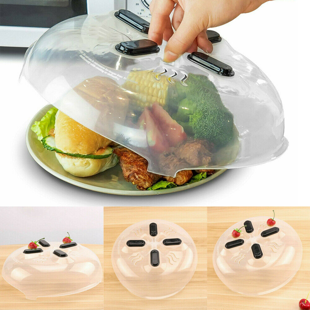 Um 1 pc ímã alimentos splatter guarda microondas pairar anti-sputtering capa com aberturas de vapor tampa splatter magnética resistente ao calor