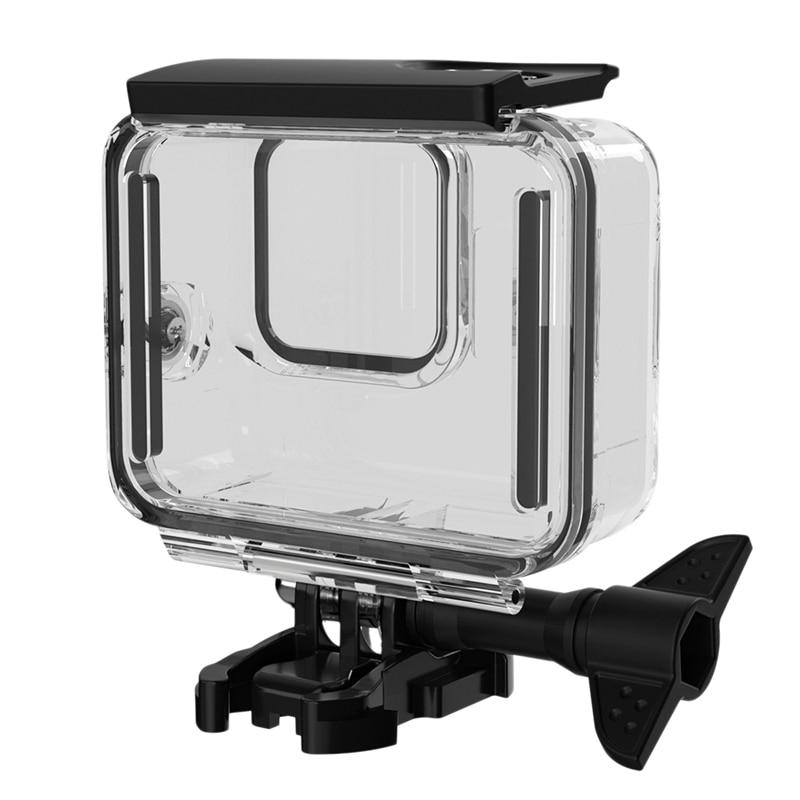 Carcasa de goma blanda resistente al agua para cámara deportiva Hero 8, funda de protección para buceo, filtros para Gopro8, color negro