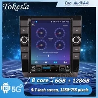 tokesla android 10 car radio audio dvd intelligent touch central multimedia gps receiver screen mp5 system for audi a4 2002 2008