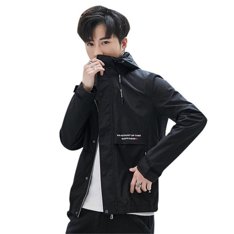 2020 primavera otoño nueva tendencia de estilo coreano de los hombres chaqueta...