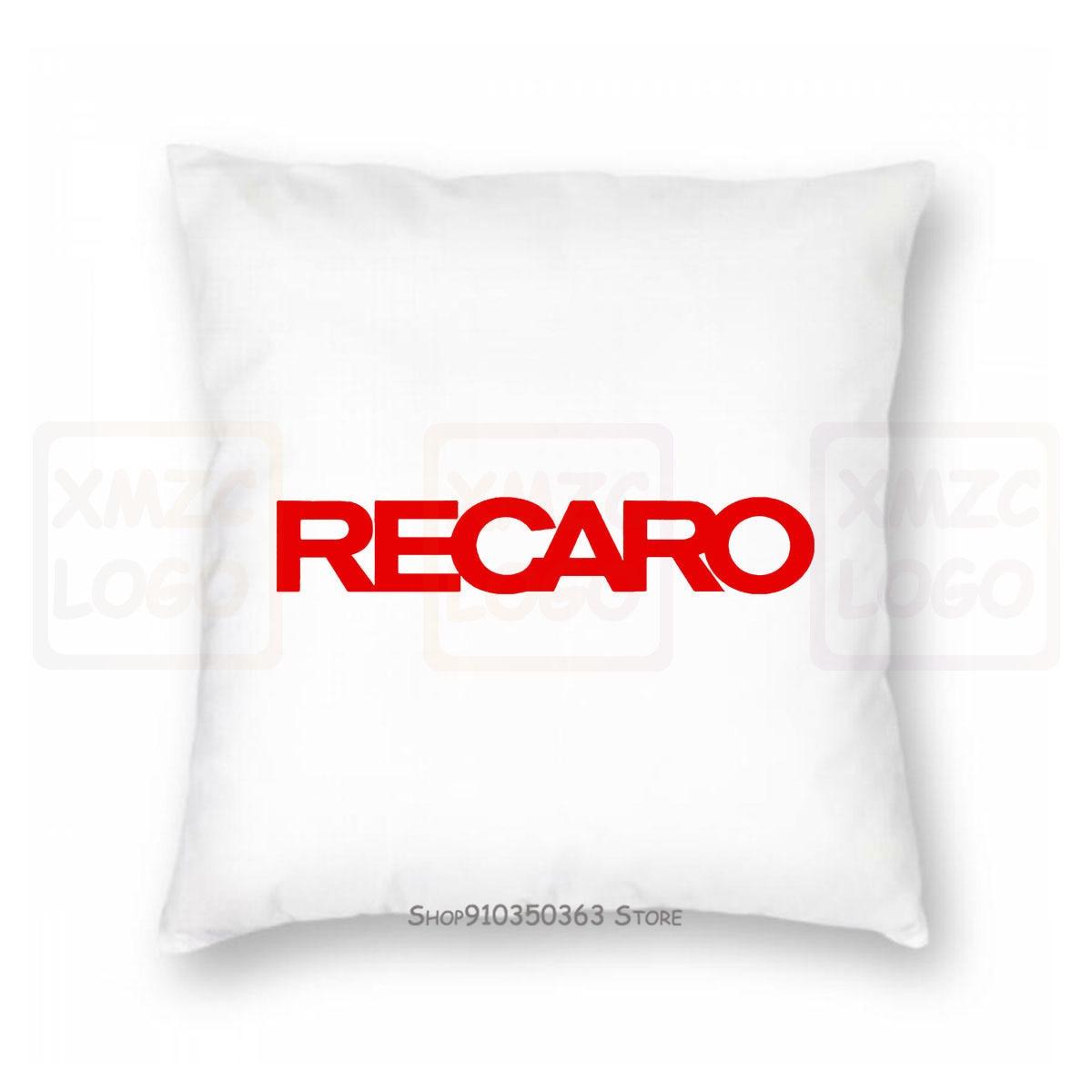 Чехол для подушки Recaro с логотипом, автомобильные гоночные сиденья, спортивный Графический подарок, унисекс, топ, для женщин и мужчин