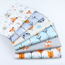 Fox Arrow Twill Cotton Fabric,Patchwork Cloth,DIY Sewing Quilting Fat Quarters Material Tecido For B