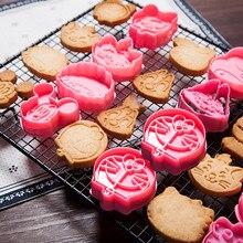 Outil de torréfaction 3D Biscuit moule mignon dessin animé Animal en plastique courbé Cookie moule Sugarcraft chocolat décoration plongeur Cutter