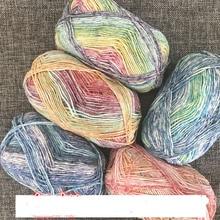 Spray de fils de coton à lait 40g   4 brins de fils de laine mérinos teints, Segment de fil de châle pour bébé, filature de fil, accessoire bijoux ZB136