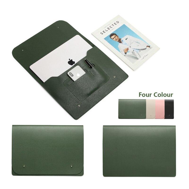 Luva do portátil caso saco para macbook ar pro retina 11 12 14 15 polegada sacos caso para xiaomi huawei hp portátil de luxo luva