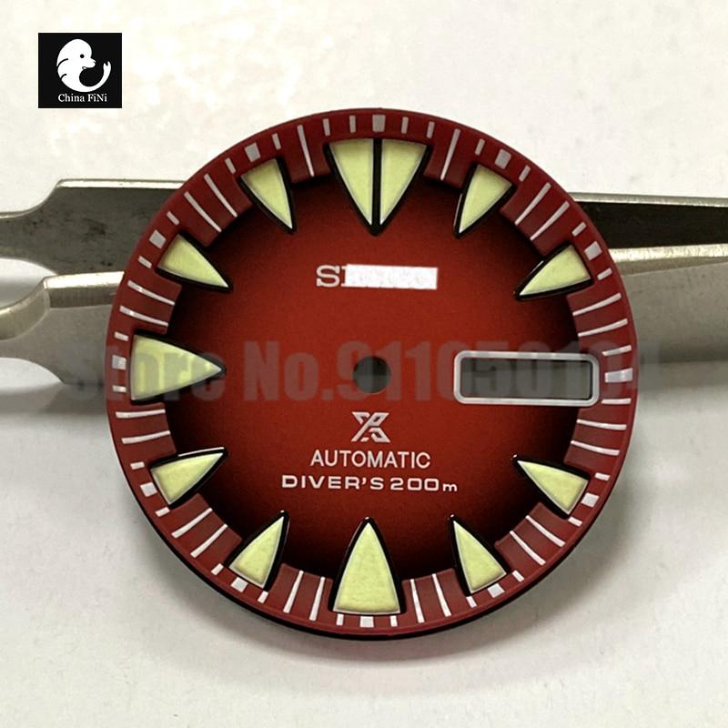 Accesorios de reloj Monster Gradient Red Dial adecuado para Seiko NH36A movimiento...