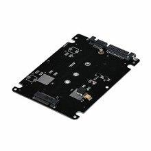 1 pièces NGFF SSD à 2.5 SATA adaptateur carte boîtier en métal noir M.2 à Sata adaptateur B clé Socket 2 M.2 connecter ordinateur portable de bureau