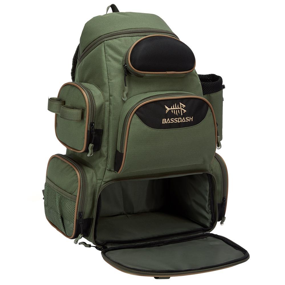 Bassdash Fishing Bag Tackle Backpack Lightweight Tactical Tackle Box Multifunctional