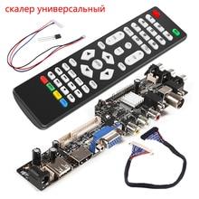 Aokin Kit de détartreur universel 3663 TV contrôleur carte pilote numérique Signal DVB-C DVB-T2 DVB-T universel LCD mise à niveau 3463A russe