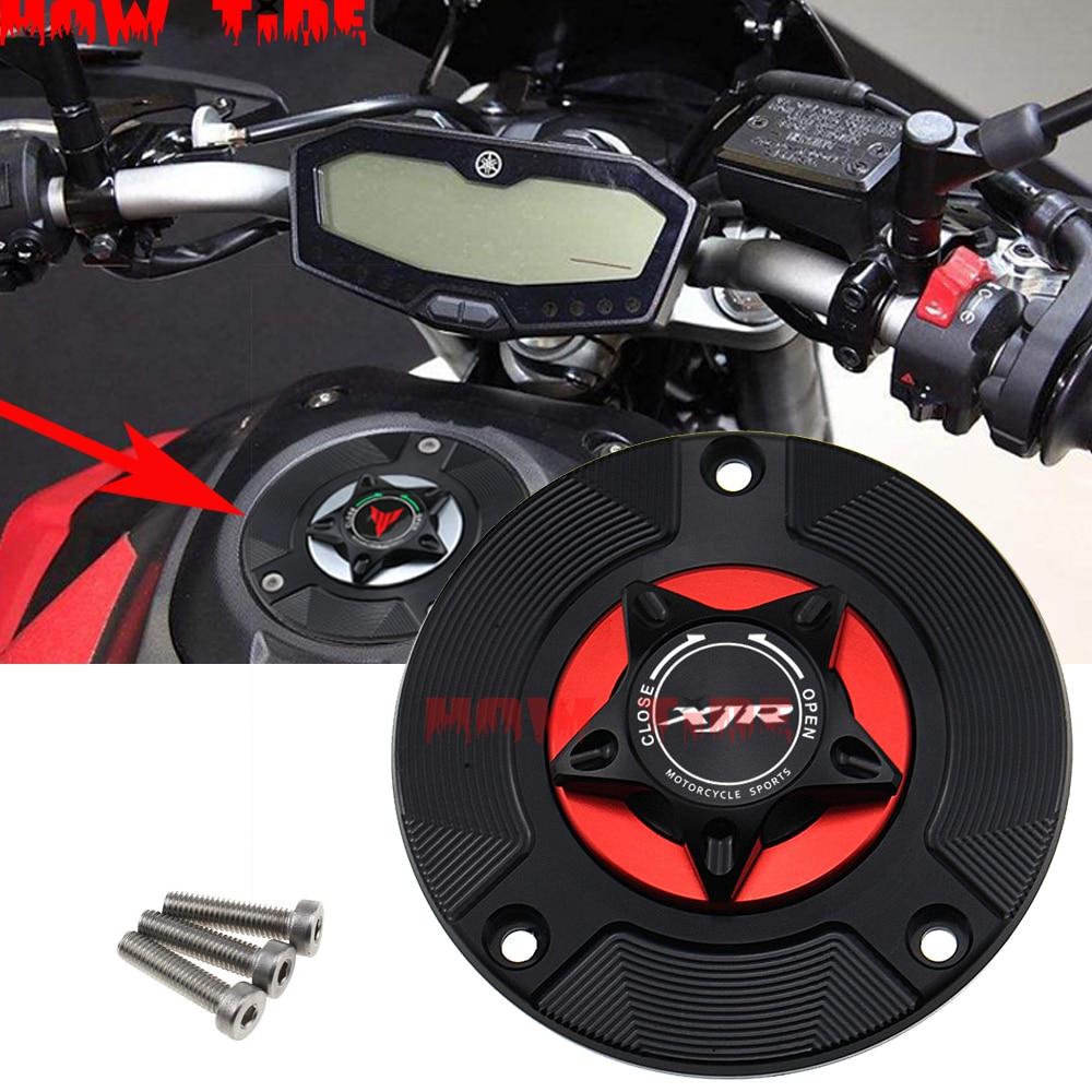 CNC alüminyum alaşım anahtarsız motosiklet aksesuarları YAMAHA XJR1200 gaz depo kapağı 1994-1997/XJR1300 1998-2010