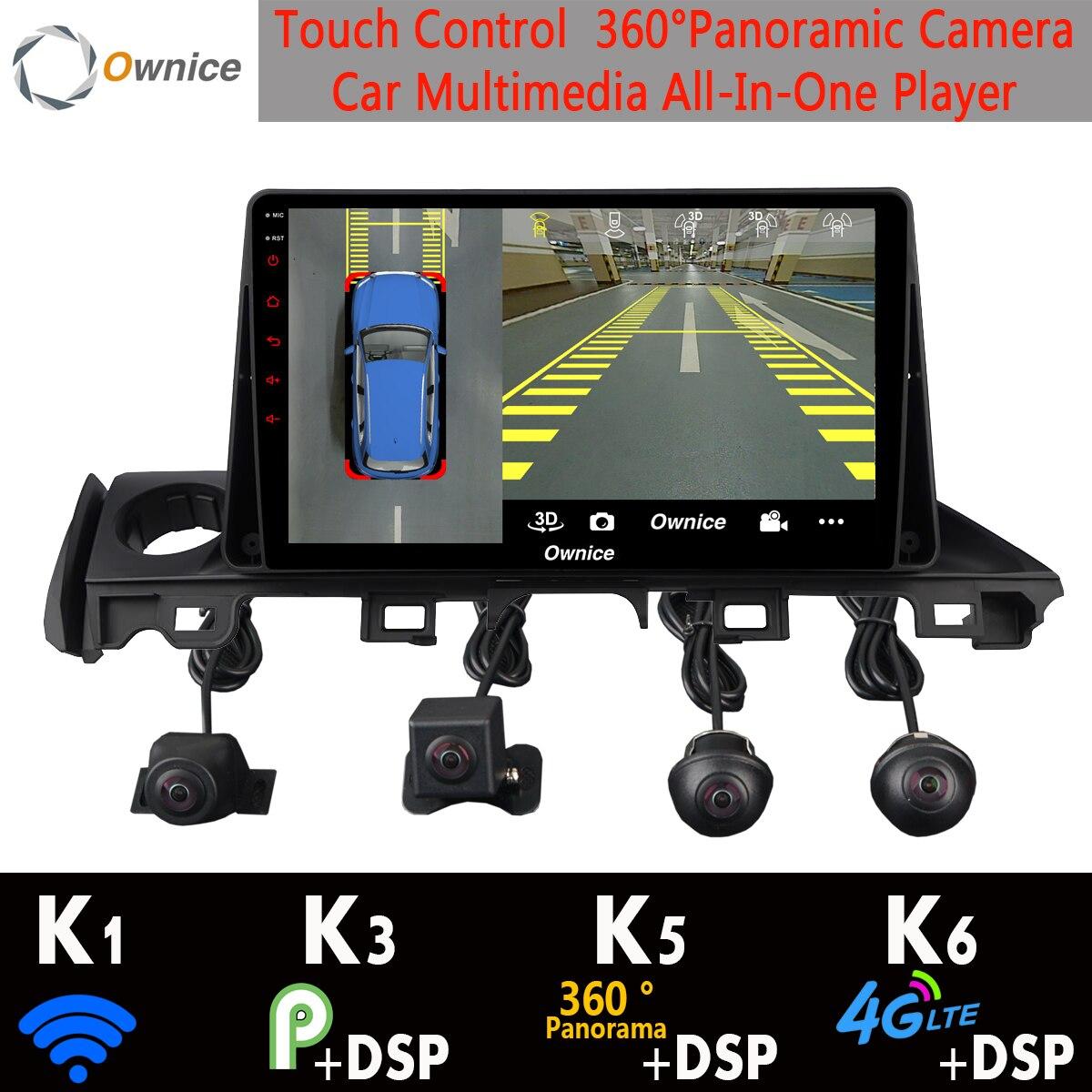 1Din 360 ° Panorâmica Android 9.0 Núcleo 4 + 64 8G Car Multimedia Player GPS Rádio DSP CarPlay para mazda Atenza 6 Mazda6 2017 2018 2019