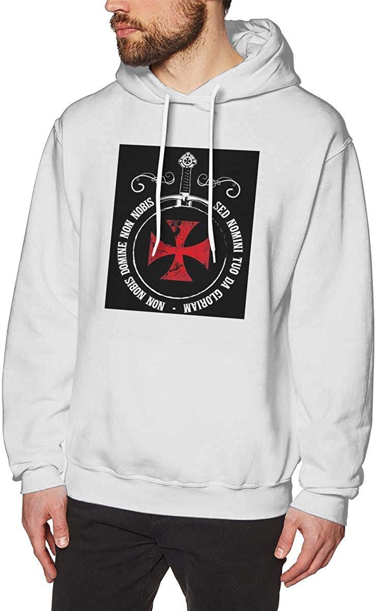 The Knights Templar Crusader emblema lema espada masón símbolo Sudadera con capucha para hombres tema impreso moda Hoodie hombres mujeres