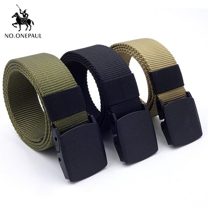 NO.ONEPAUL-ceinture tactique décontracté   Ceinture en alliage, boucle automatique pour jeunes étudiants, ceinture pour sports de plein air entraînement, livraison gratuite