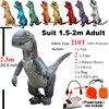 Disfraz de Velociraptor Jurassic World 2, disfraz de dinosaurio REX inflable, disfraz de Cosplay de Halloween, disfraz de mascota Raptor de fantasía para adultos