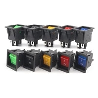 1pcs 39x28 5mm16a30a inline rocker switch on off 4 pin 2 position power switch with led light electrical equipment accessories