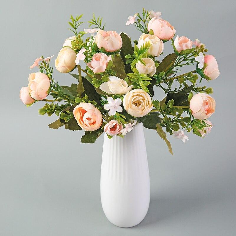 28 cm/11in Rose Weiß Seide Kamelie Künstliche Blumen Bouquet 10 Großen Kopf Billig Gefälschte Blumen für Home Hochzeit dekoration Innen