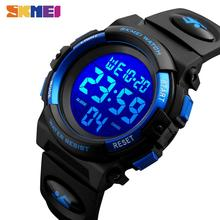 SKMEI Children LED Electronic Digital Watch Chronograph Clock Sport Watches 5Bar Waterproof Kids Wri