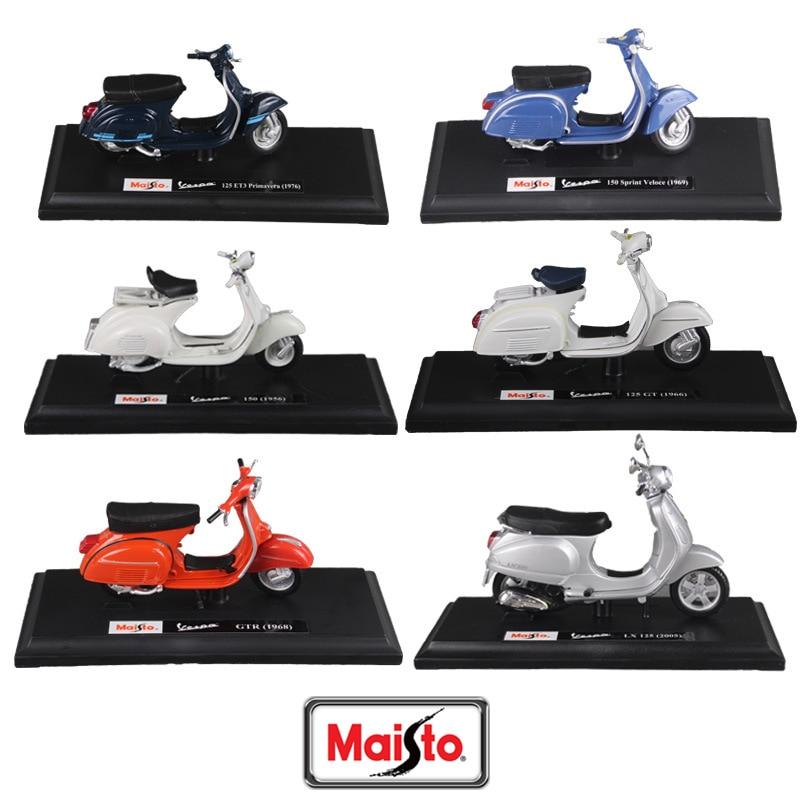 Скутер Maisto 1:18 14 стилей Piaggio модель Vespa Мотоцикл римские праздничные коллекционные подарки