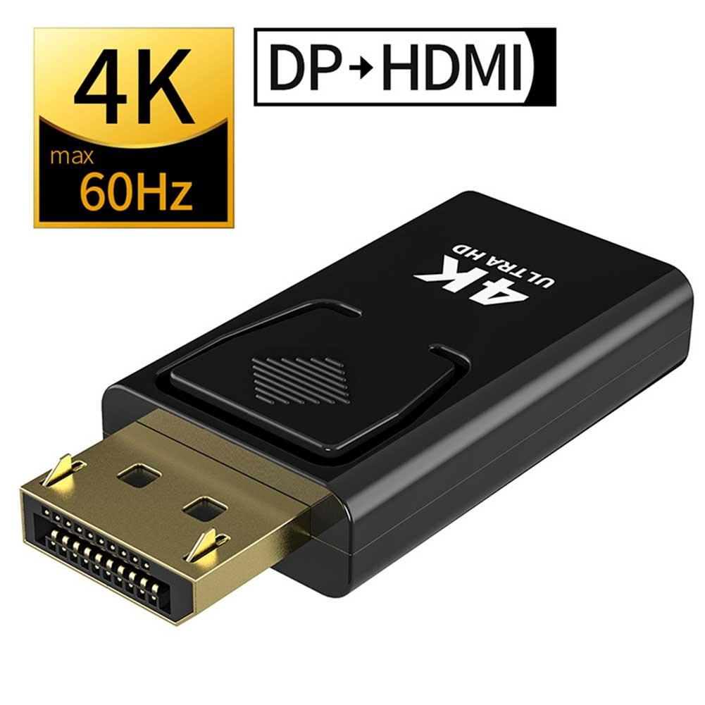 Dp para hdmi max 4 k 60 hz displayport adaptador macho para fêmea conversor de cabo displayport para hdmi adaptador para projetor de tv pc