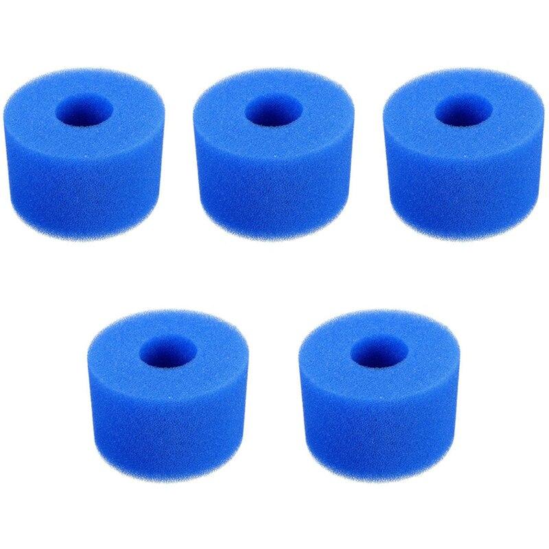BEAU-5PCS filtro de espuma de piscina esponja para Intex S1 reutilizable lavable limpiador de Biofoam filtro de espuma de piscina accesorio de natación