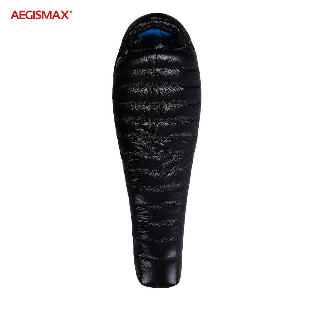 AEGISMAX G Camping en plein air-22 = ~-10 = sac de couchage hiver 95% duvet doie FP800 chaud 15D Nylon sac de couchage étanche confort