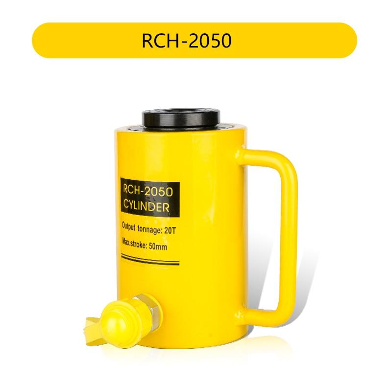 20 طن 50 مللي متر جوفاء أسطوانة هيدروليكية RCH-2050 الهيدروليكية جاك السكتة الدماغية 50 مللي متر تحتاج إلى استخدامها مع مضخات هيدروليكية