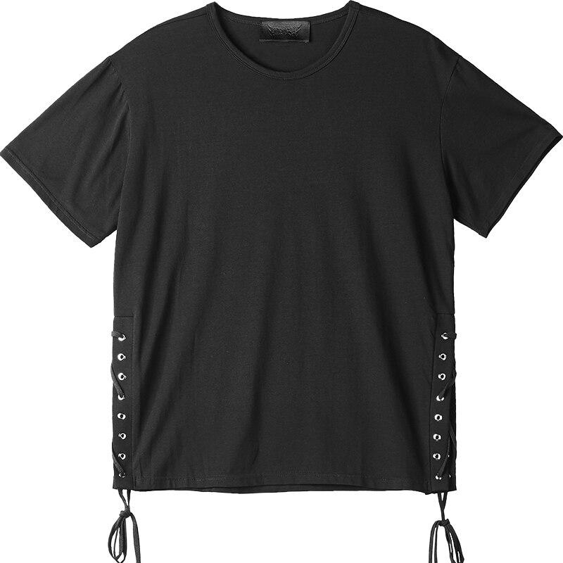 Camiseta Punk gótica de manga corta para hombre, de estilo de club nocturno, de algodón, de manga corta, color negro, 2020