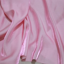 CF808 1m Changeable Pink Tencel Cotton Fabric Imported Coloured Glaze Silk Satin Fashion Women Dress