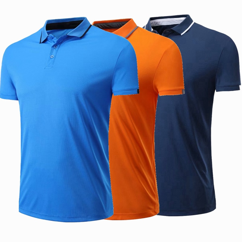 Spandex Men Women Running T Shirt Quick Dry Fitness short sleeve Shirt Training exercise golf tennis Clothes Gym Sports Polo Top