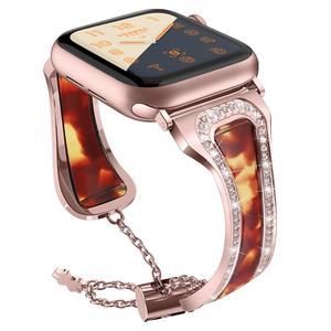 Diamond Watch Strap for Apple watch 38 42 40 44 mm iWatch 5 4 Band Women Stainless Steel Strap Apple Watch Series 3 2 Bracelet
