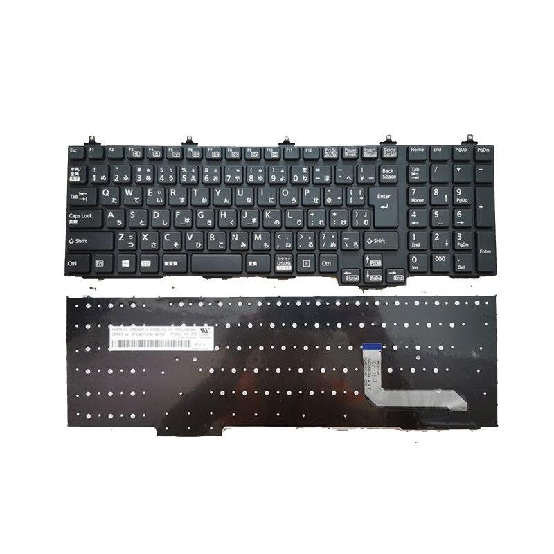 Teclado portátil original adequado para fujitsu lifebook a572 a574 a743/g teclado portátil japonês entrar chave
