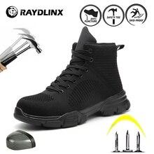 RAYDLINX chaussures de sécurité respirant maille acier orteil hommes en plein air anti-dérapant Anti-crevaison protection chaussures de sécurité