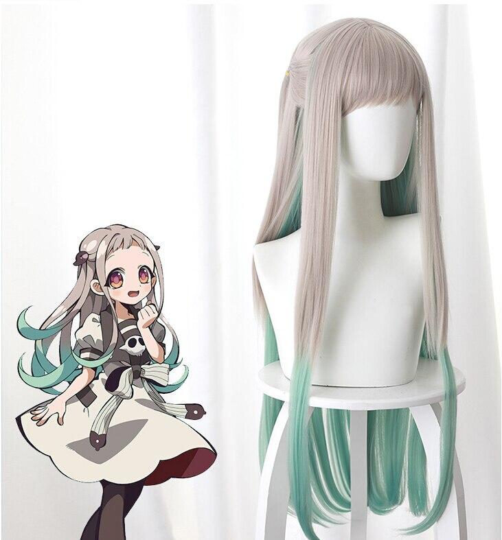 80 см аниме Jibaku Shounen Hanako kun косплей парики Nene Yashiro длинные термостойкие синтетические волосы вечерние парики