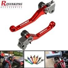 Motorcycle Dirt Bike Brake Clutch Levers CNC Aluminum Pivot Foldable handle levers FOR HONDA CRM 250 AR 1994-1998 1997 1996 1995