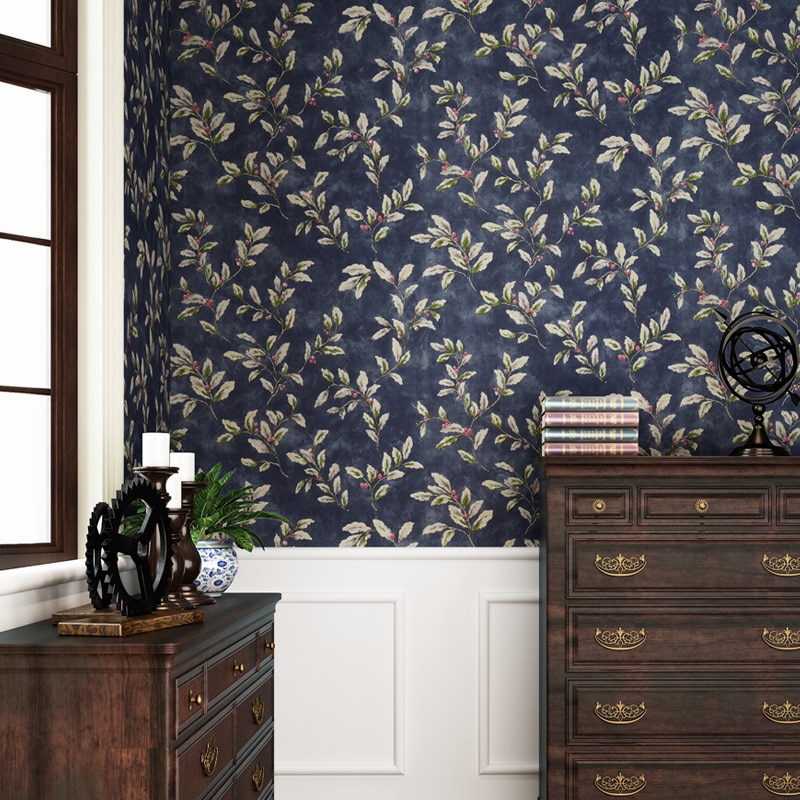 American Retro Embossed Damask Self-adhesive Non-woven Wallpaper 3D Flower Textured Bedroom Living Room Wall Paper Home Decor beautiful europe flowers wallpaper self adhesive non woven 3d floral wallpapers roll living room bedroom mural wall paper qz104