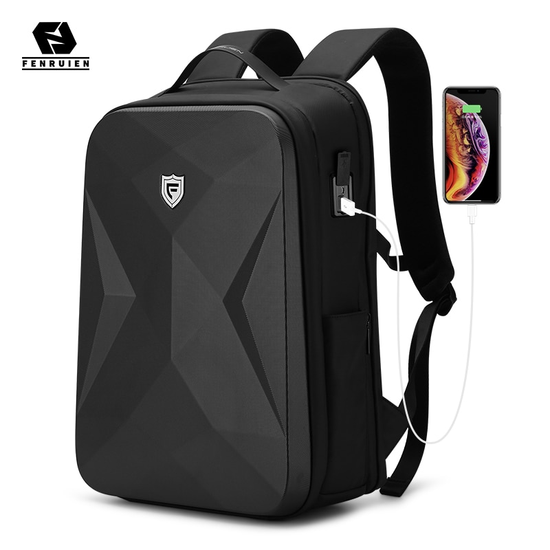 Fenruien 2021 новый мужской рюкзак, Модный водонепроницаемый школьный дорожный рюкзак, противоугонные бизнес рюкзаки, подходят для 17,3 дюймового ...